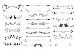 Het vectorelement van de verdelers kalligrafische lijn Stock Foto