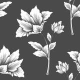 Het vectorelement van het bloem naadloze patroon Elegante textuur voor achtergronden vector illustratie