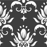 Het vectorelement van het damast naadloze patroon. Royalty-vrije Stock Afbeeldingen