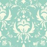 Het vectorelement van het damast naadloze patroon. Royalty-vrije Stock Afbeelding