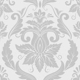 Het vectorelement van het damast naadloze patroon. stock illustratie