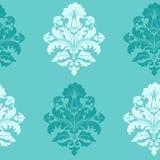 Het vectorelement van het damast naadloze patroon. Stock Foto's