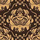 Het vectorelement van het damast naadloze patroon. royalty-vrije illustratie