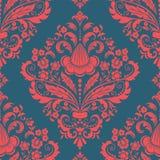 Het vectorelement van het damast naadloze patroon. Stock Afbeelding