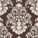 Het vectorelement van het damast naadloze patroon. Stock Fotografie