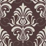 Het vectorelement van het damast naadloze patroon. Stock Afbeeldingen