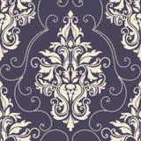 Het vectorelement van het damast naadloze patroon. Stock Foto