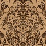 Het vectorelement van het damast naadloze patroon Royalty-vrije Stock Afbeeldingen