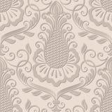 Het vectorelement van het damast naadloze patroon Stock Afbeelding