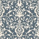 Het vectorelement van het damast naadloze patroon Stock Foto