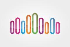 Het vectorelement van het embleemontwerp Muziek, golf, samenvatting Stock Fotografie