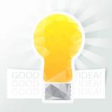 Het vectorelement van het het pictogramontwerp van het ideeweb. Stock Afbeeldingen