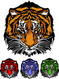 Het VectorEmbleem van de Mascotte van de tijger Stock Foto's