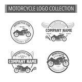 Het vectorembleem van de motorfietsclub Stock Afbeeldingen