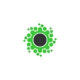 Het vectorembleem van de puntcirkel Royalty-vrije Stock Foto's