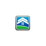 Het vectorembleem van het huisland Stock Foto's