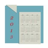 Het vectorformaat van de kalender 2013 Royalty-vrije Stock Foto's