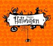 Het vectorframe van Halloween. Stock Afbeeldingen