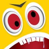 Het vectorgezicht van het Beeldverhaal oranje monster royalty-vrije illustratie
