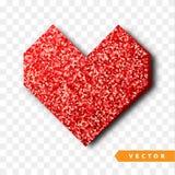 Het vectorgoud fonkelt hart Royalty-vrije Stock Foto's