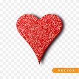 Het vectorgoud fonkelt hart Royalty-vrije Stock Afbeeldingen