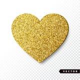 Het vectorgoud fonkelt hart Stock Foto's