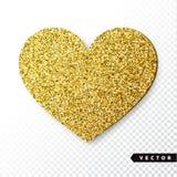 Het vectorgoud fonkelt hart Stock Foto