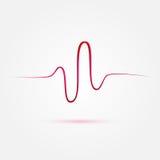 Het vectorhart sloeg, cardiogrampictogram vector illustratie