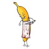 Het vectorkarakter van Beeldverhaalhalloween - Slager Banana Stock Fotografie