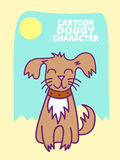 Het vectorkarakter van het Hondbeeldverhaal, Gelukkig Huisdier Royalty-vrije Stock Afbeeldingen