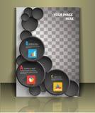 Het vectormalplaatje van de brochuredekking Royalty-vrije Stock Foto's