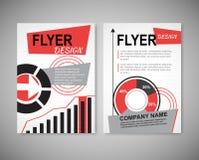 Het vectormalplaatje van de het ontwerplay-out van de Brochurevlieger Royalty-vrije Stock Afbeelding