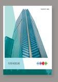 Het vectormalplaatje van de het ontwerplay-out van de Brochurevlieger Stock Afbeelding