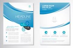 Het vectormalplaatje van de het ontwerplay-out van de Brochurevlieger, grootte A4, Voorpagina en achterpagina, infographics Gemak Royalty-vrije Stock Fotografie