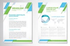 Het vectormalplaatje van de het ontwerplay-out van de Brochurevlieger, grootte A4, Voorpagina en achterpagina, infographics Gemak Stock Foto