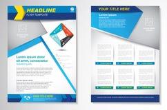 Het vectormalplaatje van de het ontwerplay-out van de Brochurevlieger, grootte A4, Voorpagina en achterpagina, infographics Gemak Stock Afbeeldingen