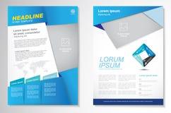 Het vectormalplaatje van de het ontwerplay-out van de Brochurevlieger, grootte A4, Voorpagina en achterpagina, infographics Gemak Stock Foto's