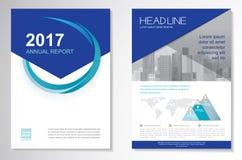 Het vectormalplaatje van de het ontwerplay-out van de Brochurevlieger, grootte A4, Voorpagina en achterpagina, infographics Gemak Royalty-vrije Stock Afbeeldingen