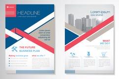 Het vectormalplaatje van de het ontwerplay-out van de Brochurevlieger, grootte A4, Voorpagina en achterpagina, infographics Gemak Stock Fotografie