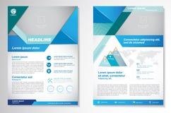 Het vectormalplaatje van de het ontwerplay-out van de Brochurevlieger Infographic Royalty-vrije Stock Foto's