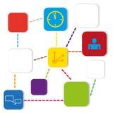 Het vectormalplaatje van de informatie grafische kleur Royalty-vrije Stock Foto