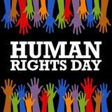 Het Vectormalplaatje van de rechten van de mensdag Stock Afbeelding