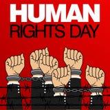 Het Vectormalplaatje van de rechten van de mensdag Stock Foto's