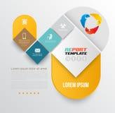 Het vectormalplaatje van het brochureontwerp Stock Afbeeldingen