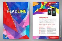Het vectormalplaatje van het brochureontwerp a4 vector illustratie