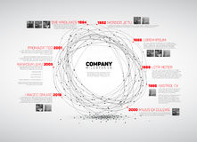 Het vectormalplaatje van het de chronologierapport van Infographic abstracte Royalty-vrije Stock Afbeelding
