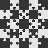Het vectormalplaatje van het raadsel. Stock Foto's