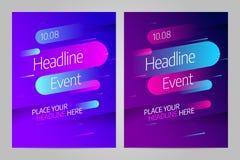 Het vectormalplaatje van het lay-outontwerp voor gebeurtenis