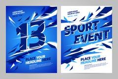 Het vectormalplaatje van het lay-outontwerp voor sport