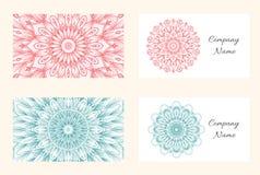 Het vectormalplaatje van het mandalaadreskaartje royalty-vrije illustratie